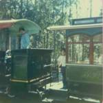 Image of Jeffery on Fort Wilderness train.