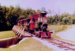 Image of Fort Wilderness Train on trestle.