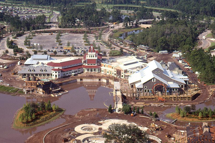 Construction Of Dixie Landings, Now Called Port Orleans Riverside   1991